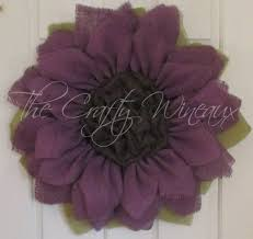 burlap sunflower wreath purple burlap sunflower wreath the crafty wineaux