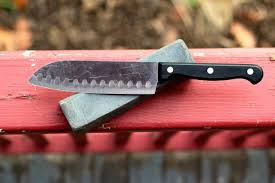 Sharpen Kitchen Knives How To Sharpen A Knife With A Stone Bespoke Post