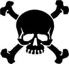 skull and crossbones sticker ebay