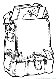 preschool coloring pages school school coloring pages school bag coloring page free printable