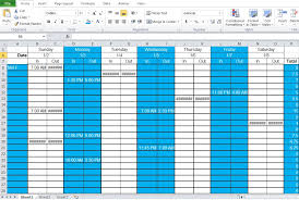 shift schedule template u2013 8 free word excel pdf format