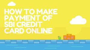 Sbi Online Help Desk Sbi Credit Card Bill Payment Online By Billdesk Youtube