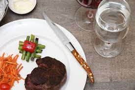 In Consumer Reports Tests Of Cut Rate Knives Ginsu Amazon Com Fortessa Provencal 4 Piece Serrated Steak Knife Set
