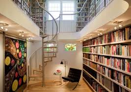 modern home library interior design beautiful staircase home library design and wall id801