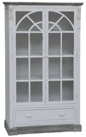 White Shabby Chic Chair by Shabby Chic Furniture Uk Glass Cabinet Buydirect4u