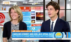 tatiana schlossberg jfk u0027s only grandson john u0027jack u0027 schlossberg makes first live tv