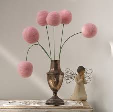 Flower Home Decoration by Wool Pom Pom Flowers Felt Craspedia Billy Button Ball Bloom Home