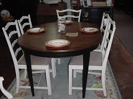 How To Refinish A Dining Room Table Refinished Oak Dining Set Two Toned U2014 Desjar Interior