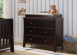delta changing table dresser black changing table dresser delta children ava 3 drawer with top