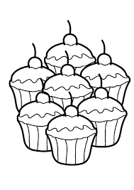 cupcakes coloring pages netart