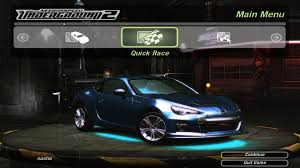 custom subaru brz need for speed underground 2 customized subaru brz 1080p youtube