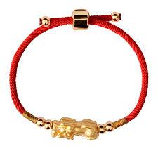 red rope bracelet images Golden pi yao lucky red rope bracelet elegant af jpg