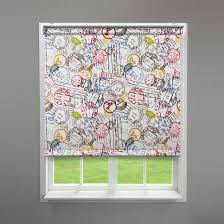 stamp design retro roller blind by blinds4value