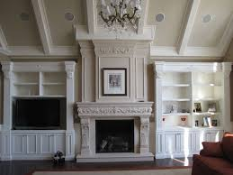 Stone Fireplace Mantel Shelf Designs by Fireplace Mantel Shelves Living Room Contemporary With Cast Stone