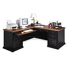 Black Desks With Hutch Black Desks Versatile Home Office Desks Officefurniture Com