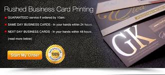24 hour rushed next day business cards printing overnight