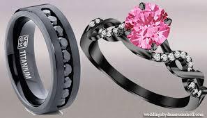 black and pink wedding ring sets pink and black wedding rings wedding corners