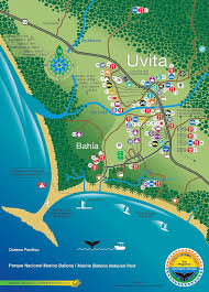 South Pacific Map Uvita Map 2016 M08 Af02 Ballena Tales Magazine U0026 Travel Guide