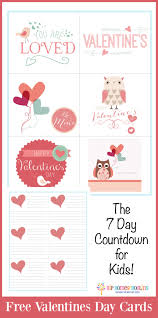 kids valentines day cards free valentines day cards the 7 day countdown for kids