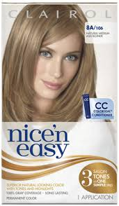 nicen easy color chart nice n easy permanent color 8a 106 natural medium ash blonde 1 ea
