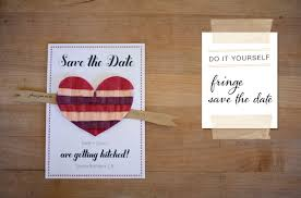 diy save the dates diy fringe save the date green wedding shoes
