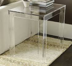 Acrylic Accent Table Clear Acrylic Accent Table Look 4 Less And Steals And Deals