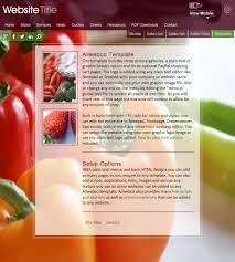 free website templates dreamweaver website templates cookbook sample image screenshot cookbook website template design