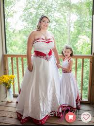 matching wedding dresses and white flower dresses