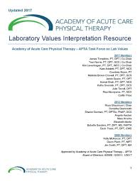 february 2017 academy of acute care physical therapy