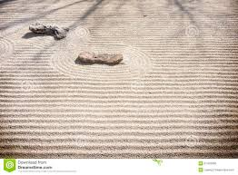 Zen Rock Garden by Zen Rock Garden Sand Patterns Stock Photo Image 51423008