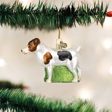 old world christmas jack russell terrier ornament