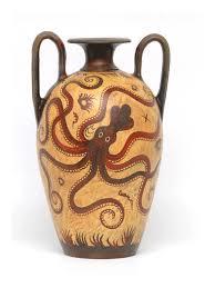 Minoan Octopus Vase Minoan Pot Ceramic Vases Marble Idols Amphora Crater Levis