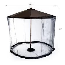 Mosquito Netting For Patio Umbrella Outsunny 7 5 Outdoor Umbrella Mosquito Net Black Patio