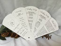 fan program tree carving petal fan wedding program the wedding sophisticate