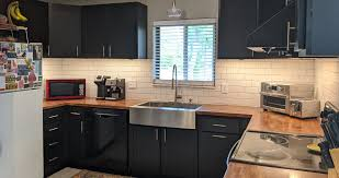 kitchen cabinets and countertops at menards blue to black kitchen cabinets projects by at menards