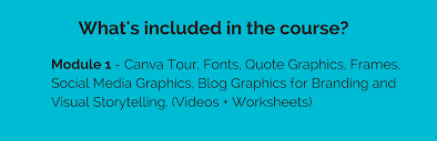 what s included canva course for business page tigerlily virtual assistance