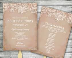 vintage wedding programs diy editable vintage wedding program fan instant ms