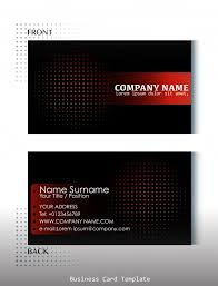 Business Cards Front And Back Template Of Front And Back View Of Business Card Vector Free