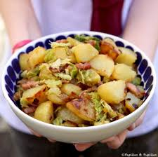 cuisiner le chou frisé poêlée de pommes de terre sautées et chou vert