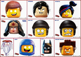 lego movie free printable masks parties free