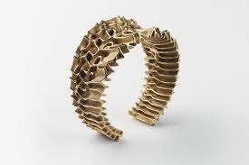 3d printed gold jewellery francis bitonti gold plated 3d printed mutatio jewelry collection