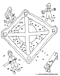 baseball maze activity coloring page create a printout or activity