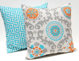 bedroom interesting decorative throw turquoise pillow covers