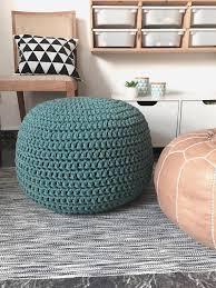 Ottoman Pillow Teal Large Pouf Ottoman Nursery Footrest Floor Pillow