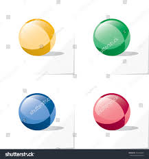 four icons glossy toy ball colored stock vector 462506485