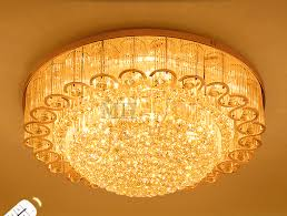 Remote Controlled Chandelier Led Remote Control Real K9 Clear Crystal Ceiling Lights Pendant