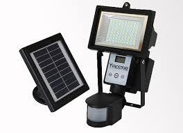 bright night solar lighting frostfire digital 54 led ultra bright solar powered motion detector