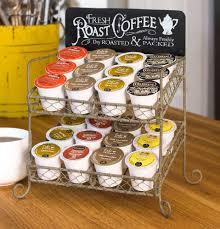 Useful Kitchen Items Fresh Roast Coffee Metal K Cup Coffee Bar Single Serve Caddy Rack