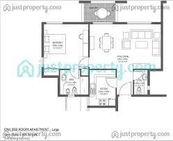 large 1 bedroom apartment floor plans al ramth version 1 floor plans justproperty com
