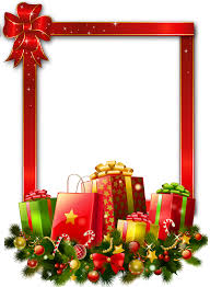 Large Photo Albums 1000 Photos Red Large Christmas Transparent Png Photo Frame With Presents